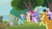 Rainbow Dash rescues a filly S2E8