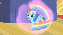 Rainbow about to fall under Trixie's spell S1E06