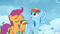 Rainbow watches Bolts; Scootaloo yawns S8E20