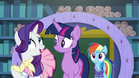 "Rarity ""Rainbow Dash's extremely time-consuming"" S8E17"