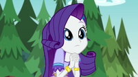Rarity surprised to hear the music stop EG4