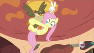 S03E11 Przerażona Fluttershy trzyma się Sowalicji