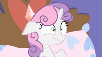 Sweetie Belle worried scrunchy face S4E19