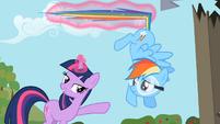 Twilight Stopping Rainbow Dash with Magic S2E03