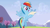 201px-Rainbow excited over reading the letter S3E7