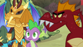 Ember, Spike, and Garble hear boulders S6E5.png