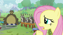 "Fluttershy ""would anyprey like to respond?"" S9E18"