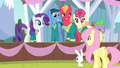 Fluttershy complimenting all the Ponytones S4E14.png