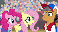 Fluttershy meeting Quibble Pants S9E6