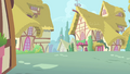 Frame of empty Ponyville street S1E20.png