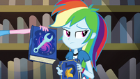 Pinkie presents book on magical portal maintenance EG3