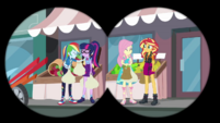 RD, Twi, Fluttershy, and Sunset have fun together EGDS40