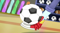 Rainbow Dash catches soccer ball with her foot SS14