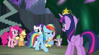 Rainbow Dash objecting S4E2