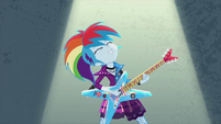 Rainbow Dash rocking out hard EG2