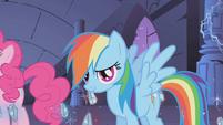 Rainbow Dash smiling at Twilight S1E02
