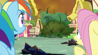 Rainbow and Fluttershy watch vine invasion S9E2