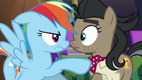 Rainbow confronts Caballeron cosplayer S6E13