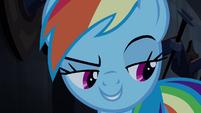 Rainbow thinks Applejack's hoof is around her S4E03