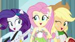 Rarity, Fluttershy, and Applejack singing EG2