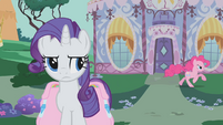 Rarity watches Pinkie gallop away S1E10