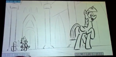 S5E25 animatic - Twilight and Spike enter the castle
