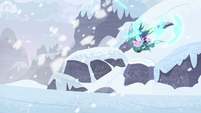 Starlight and Chrysalis appear on snowy mountain S9E24