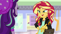 "Sunset Shimmer ""Twilight's student is teaching me"" EGS3.png"