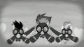 The Wonderbolts flying as the screen is black-and-white S5E15.png