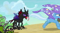 Trixie running away scared from Pharynx S7E17