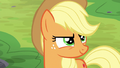Applejack looking up at the trees S6E18.png
