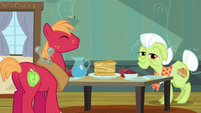 Big Mac and Granny Smith at breakfast table S5E4
