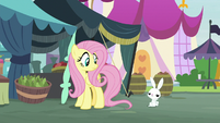 Bunny Fluttershy gestures toward sanctuary S9E18