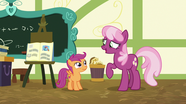 """File:Cheerilee """"a moldy sandwich in your report"""" S7E7.png"""