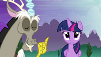 Discord smug and Twilight unamused S4E02