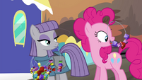Pinkie Pie licking rock candies S4E18