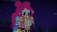 Pinkie sorrowfully holding her dummy EGSBP