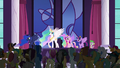 Princess Celestia addressing the crowd S5E10.png