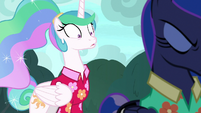Princess Celestia in wide-eyed shock S9E13