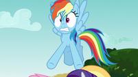 Rainbow Dash hears Pinkie Pie's outburst S6E21