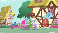 Rainbow looks for Scootaloo in Ponyville S8E20