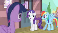 Rarity 'during most of your visits with her' S4E11