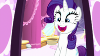 Rarity quickly changes her mood to being excited S6E9