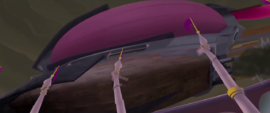 Storm King's airship breaks Canterlot spires MLPTM