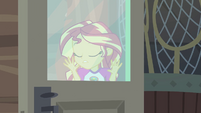 Sunset Shimmer relieved to not be caught EG4