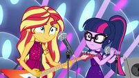 Sunset gives Rainbow Dash the go-ahead EGSB