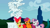 The Cutie Mark Crusaders after bumping to Discord S2E01