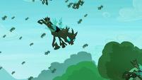 The changelings flying S5E26