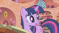 Twilight --you know what I think, Pinkie Pie--- S1E05