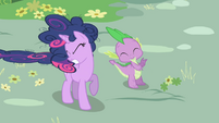 Twilight and Spike blown by RD's speed S1E01